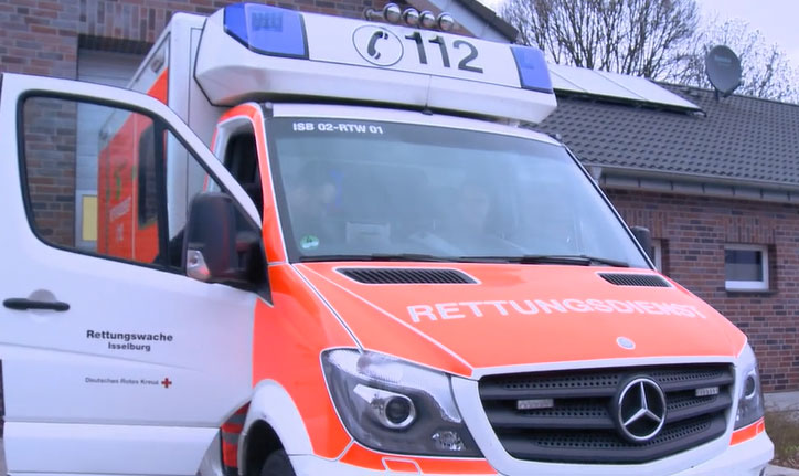 Duitse ambulance uit Isselburg ook in Dinxperlo